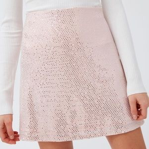URban Outfitters Reese Sparkly Metallic Mini Skirt